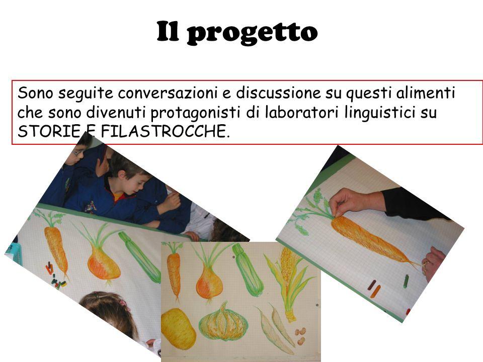 Il progetto Sono seguite conversazioni e discussione su questi alimenti che sono divenuti protagonisti di laboratori linguistici su STORIE E FILASTROC