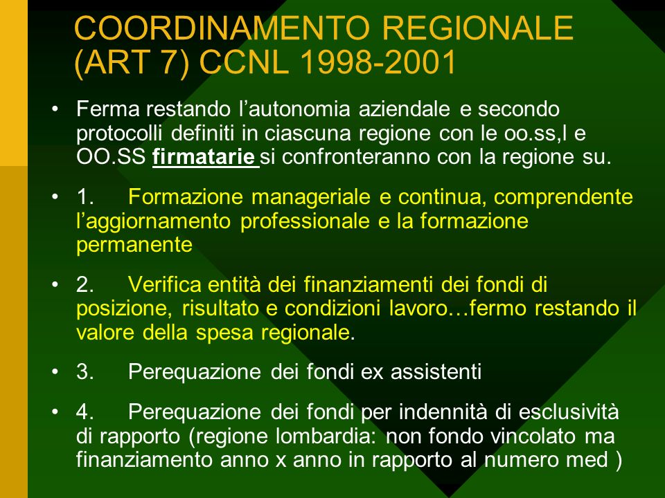 COORDINAMENTO REGIONALE (ART 7) CCNL 2002-2005.1.