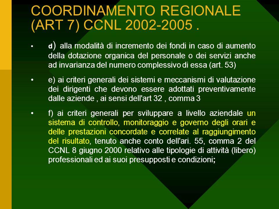 COORDINAMENTO REGIONALE (ART 7) CCNL 2002-2005.
