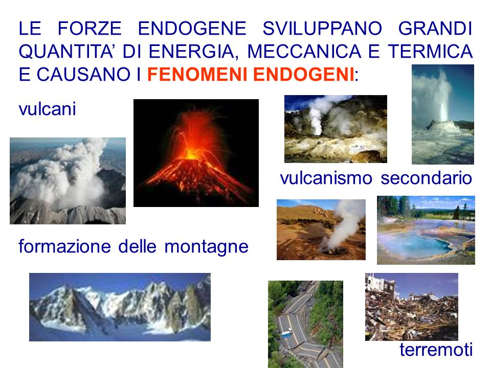 Leruzione centrale avviene con la fuoriuscita del magma dal cratere principale e dai crateri secondari; il magma si accumula formando ledificio vulcanico dalla forma conica.