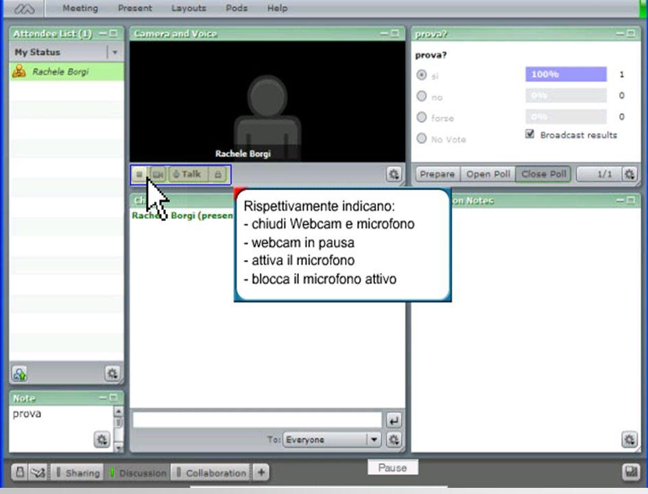 Gli strumenti del partecipante il partecipante ha una serie di strumenti per comunicare velocemente ai colleghi e al moderatore le sue esigenze rispetto allandamento del discorso.