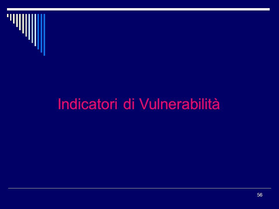 56 Indicatori di Vulnerabilità