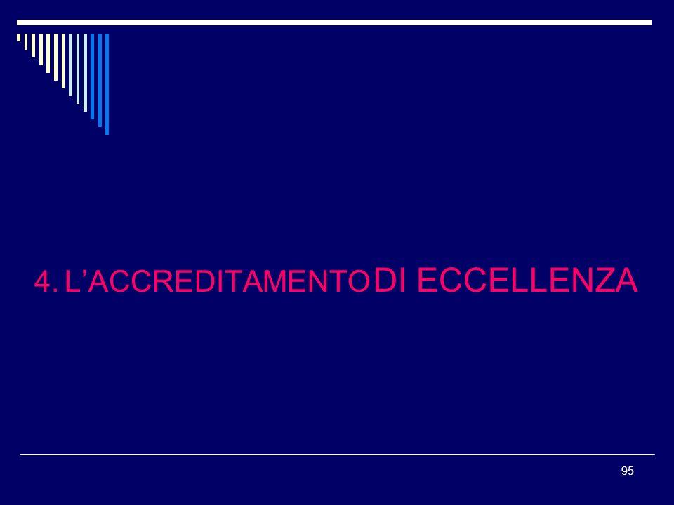 95 4. LACCREDITAMENTO DI ECCELLENZA