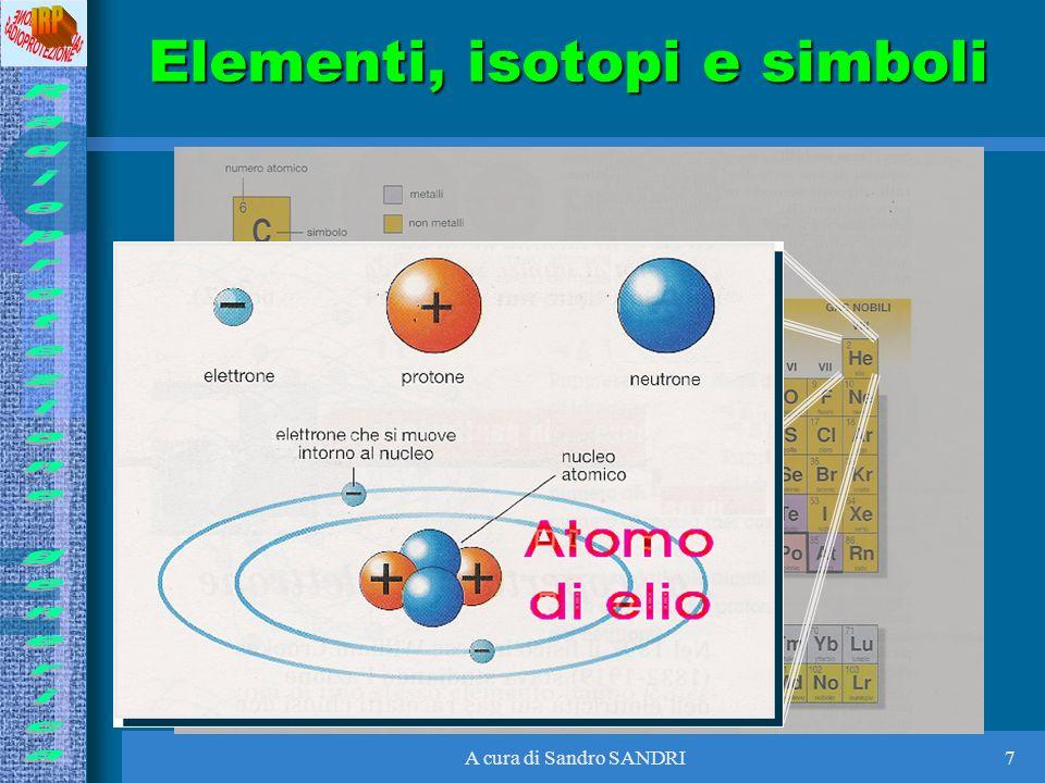 A cura di Sandro SANDRI7 Elementi, isotopi e simboli