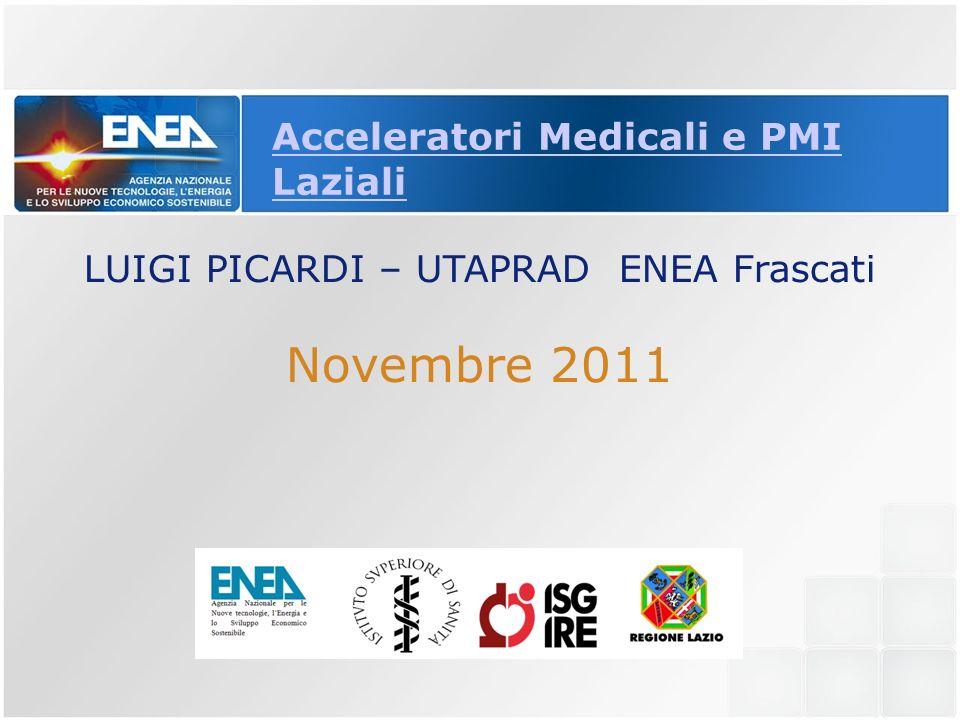 Acceleratori Medicali e PMI Laziali LUIGI PICARDI – UTAPRAD ENEA Frascati Novembre 2011