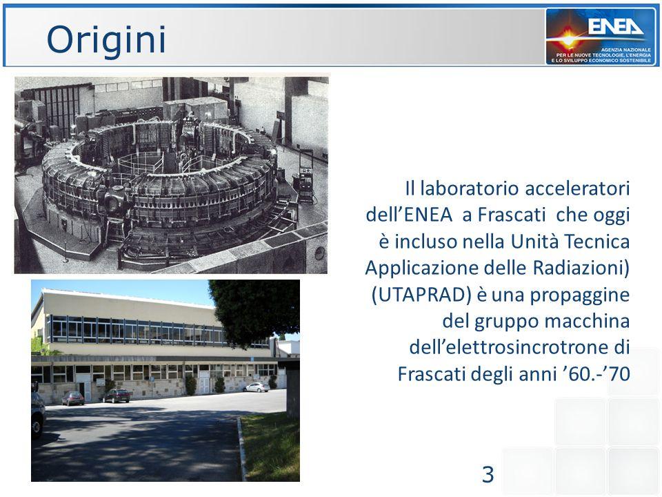 Il laboratorio acceleratori dellENEA a Frascati che oggi è incluso nella Unità Tecnica Applicazione delle Radiazioni) (UTAPRAD) è una propaggine del g