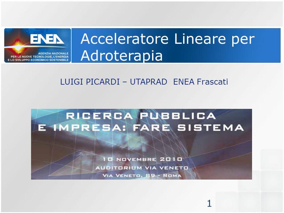 Acceleratore Lineare per Adroterapia LUIGI PICARDI – UTAPRAD ENEA Frascati 1