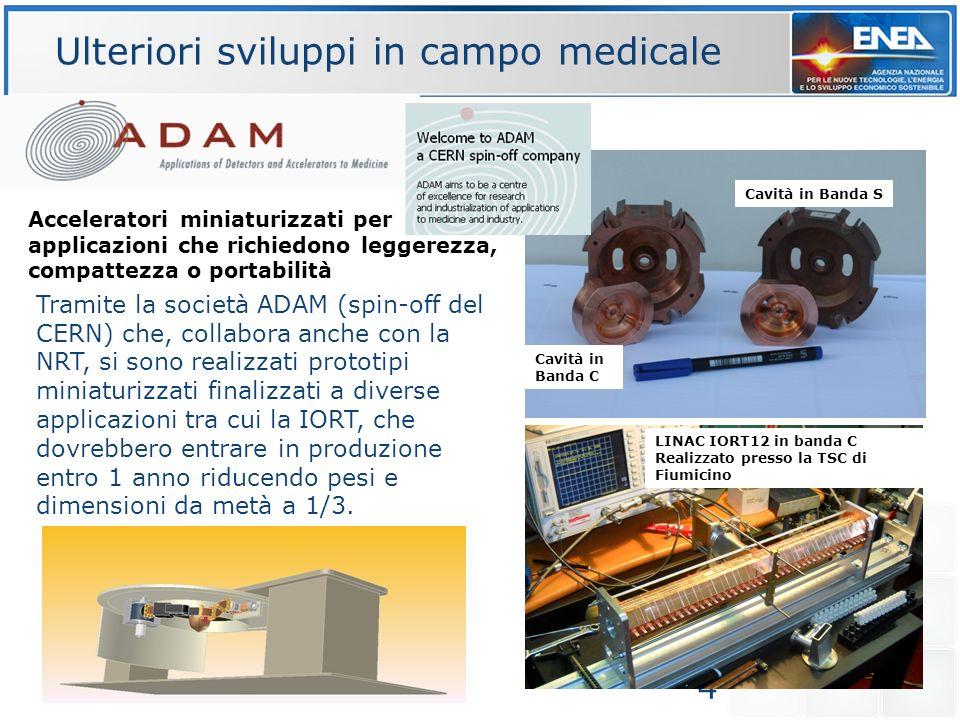 4 Tramite la società ADAM (spin-off del CERN) che, collabora anche con la NRT, si sono realizzati prototipi miniaturizzati finalizzati a diverse appli