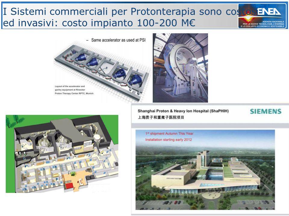 8 I Sistemi commerciali per Protonterapia sono costosi ed invasivi: costo impianto 100-200 M