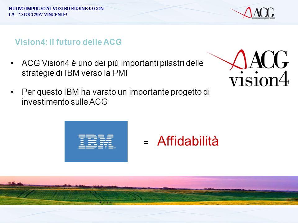 NUOVO IMPULSO AL VOSTRO BUSINESS CON LA…STOCCATA VINCENTE! Vision4: Il futuro delle ACG ACG Vision4 è uno dei più importanti pilastri delle strategie