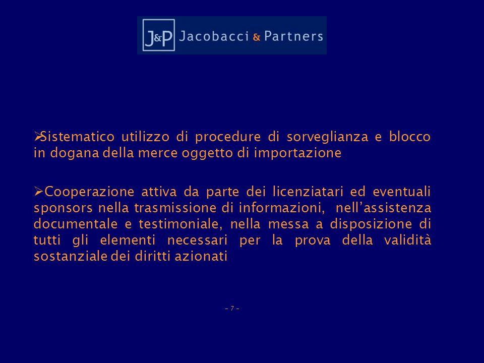 in vigore al momento dellimportazione: quindi anche articoli che costituiscono violazione di diritti di brevetto o dautore.