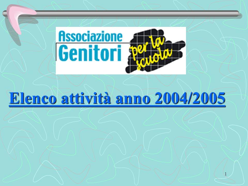 1 Elenco attività anno 2004/2005