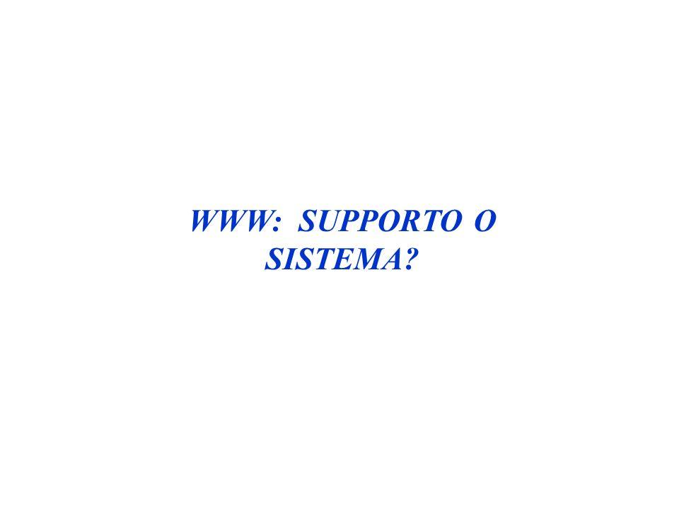 WWW: SUPPORTO O SISTEMA