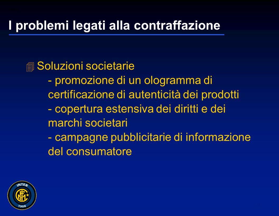 01265sc_97 11 I problemi legati alla contraffazione Segni distintivi riconducibili - la contraffazione non si limita alla riproduzione dei marchi industriali.