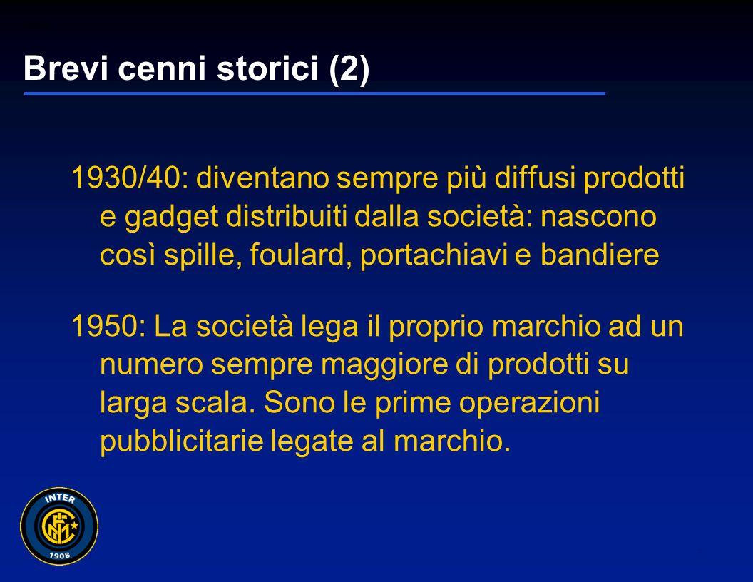 01265sc_97 3 Brevi cenni storici (1) 1908: anno di fondazione dell Inter 1909/10: la società, per celebrare il primo scudetto, regala alla squadra una divisa ufficiale fortemente caratterizzata.