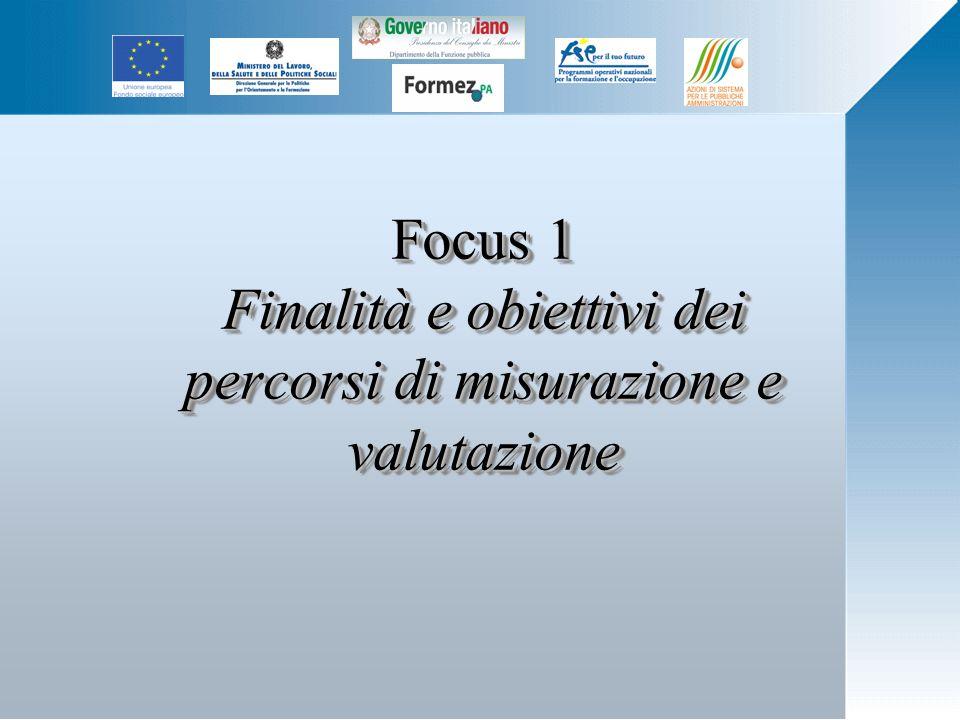Focus 1 Finalità e obiettivi dei percorsi di misurazione e valutazione