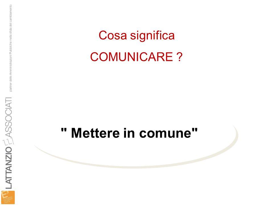 Cosa significa COMUNICARE ?