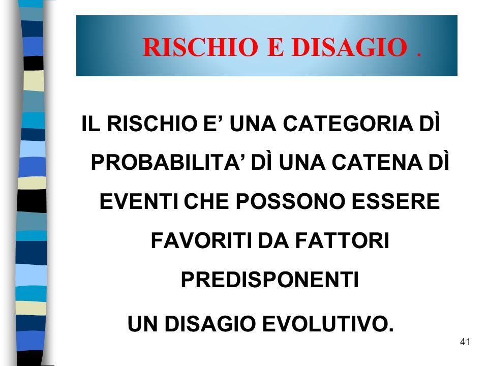 41 RISCHIO E DISAGIO.