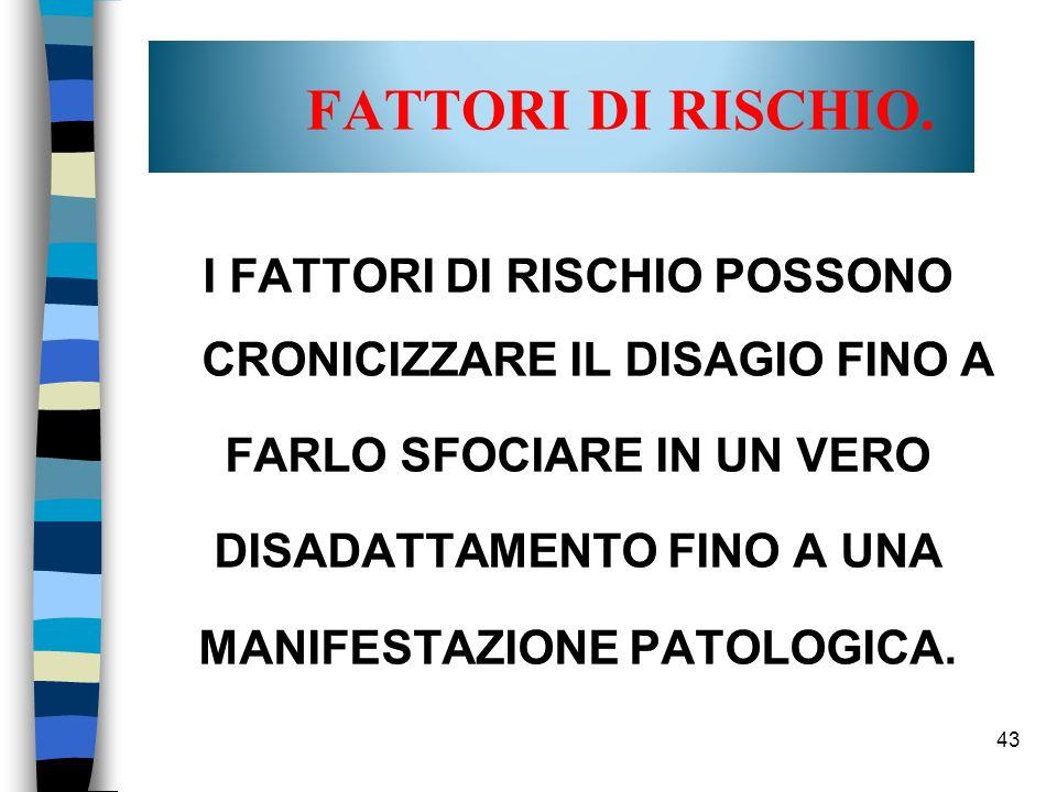 43 FATTORI DI RISCHIO.