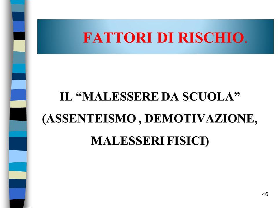 46 FATTORI DI RISCHIO.