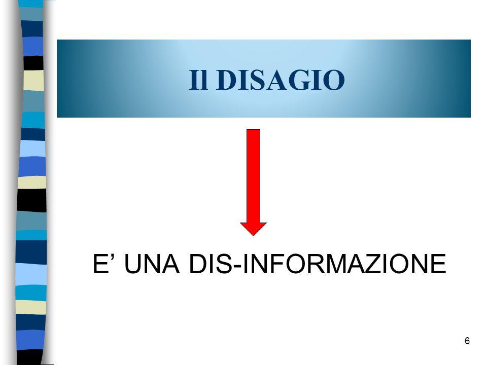 Il DISAGIO E UNA DIS-INFORMAZIONE 6