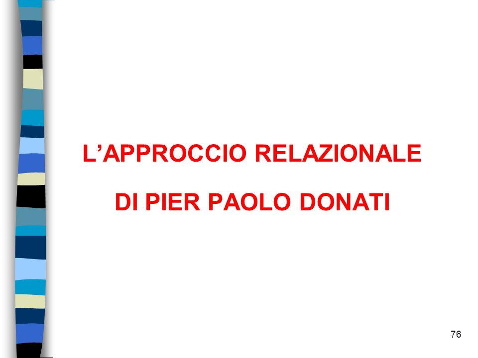 76 LAPPROCCIO RELAZIONALE DI PIER PAOLO DONATI