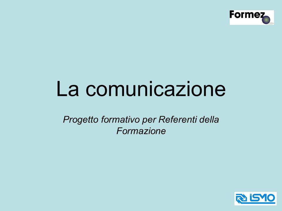La comunicazione Progetto formativo per Referenti della Formazione