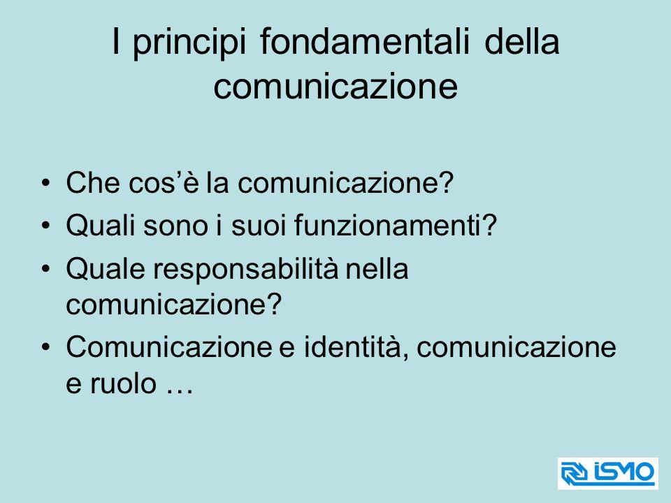 I principi fondamentali della comunicazione Che cosè la comunicazione? Quali sono i suoi funzionamenti? Quale responsabilità nella comunicazione? Comu