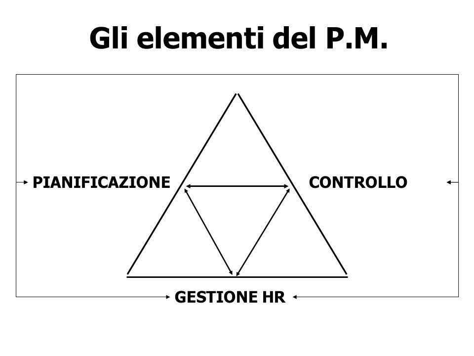 Gli elementi del P.M. GESTIONE HR CONTROLLOPIANIFICAZIONE
