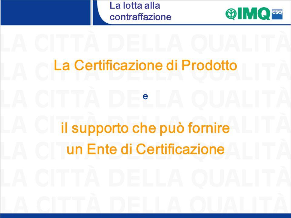 La lotta alla contraffazione La Certificazione di Prodotto e il supporto che può fornire un Ente di Certificazione
