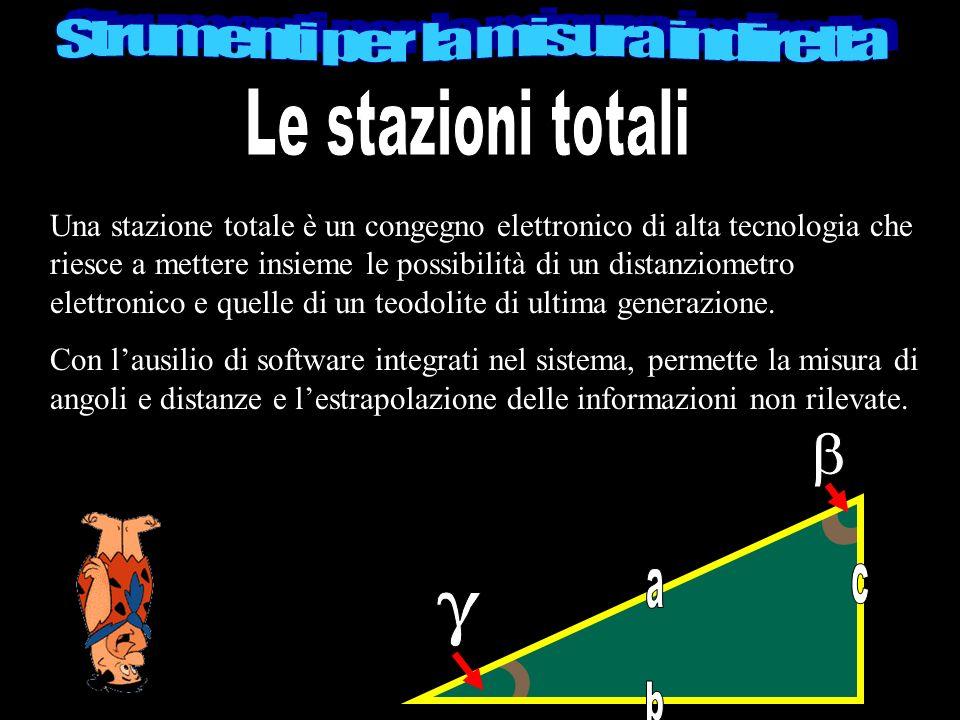 Una stazione totale è un congegno elettronico di alta tecnologia che riesce a mettere insieme le possibilità di un distanziometro elettronico e quelle