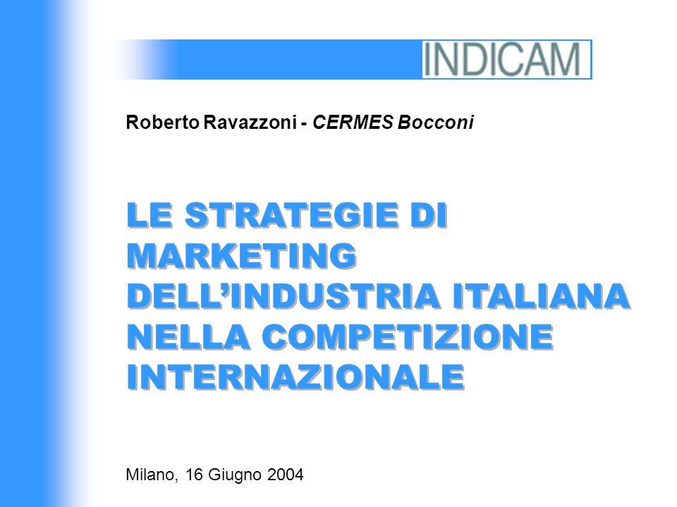 LE STRATEGIE DI MARKETING DELLINDUSTRIA ITALIANA NELLA COMPETIZIONE INTERNAZIONALE Roberto Ravazzoni - CERMES Bocconi Milano, 16 Giugno 2004