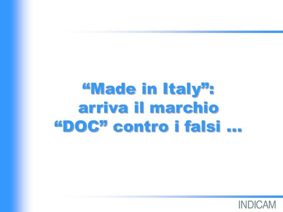 Made in Italy: arriva il marchio DOC contro i falsi...
