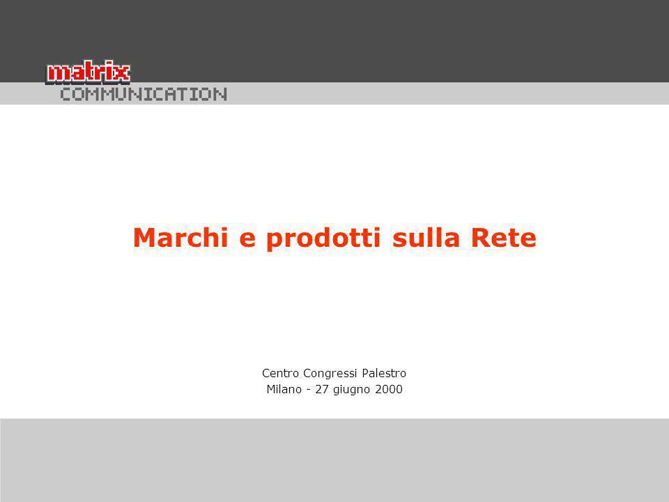 Centro Congressi Palestro Milano - 27 giugno 2000 Marchi e prodotti sulla Rete
