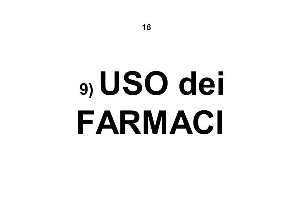 16 9) USO dei FARMACI