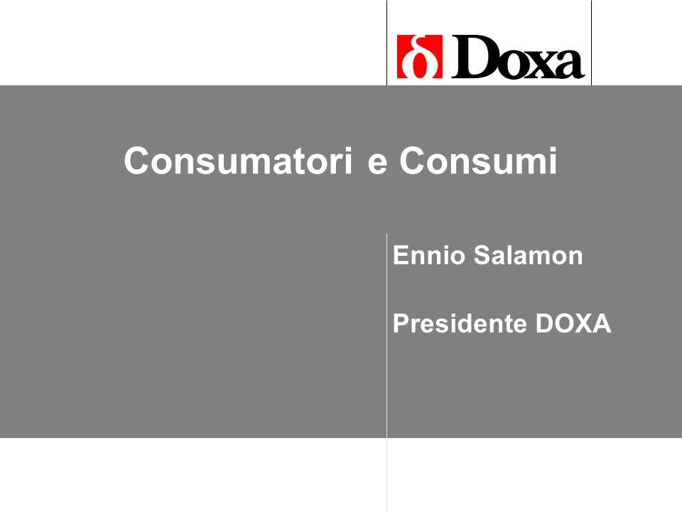 Consumatori e Consumi Ennio Salamon Presidente DOXA