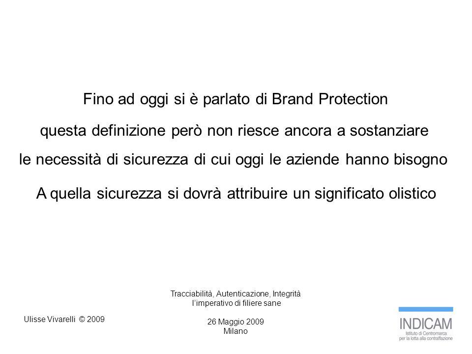 Ulisse Vivarelli © 2009 Tracciabilità, Autenticazione, Integrità limperativo di filiere sane 26 Maggio 2009 Milano grazie per la vostra attenzione Ulisse Vivarelli
