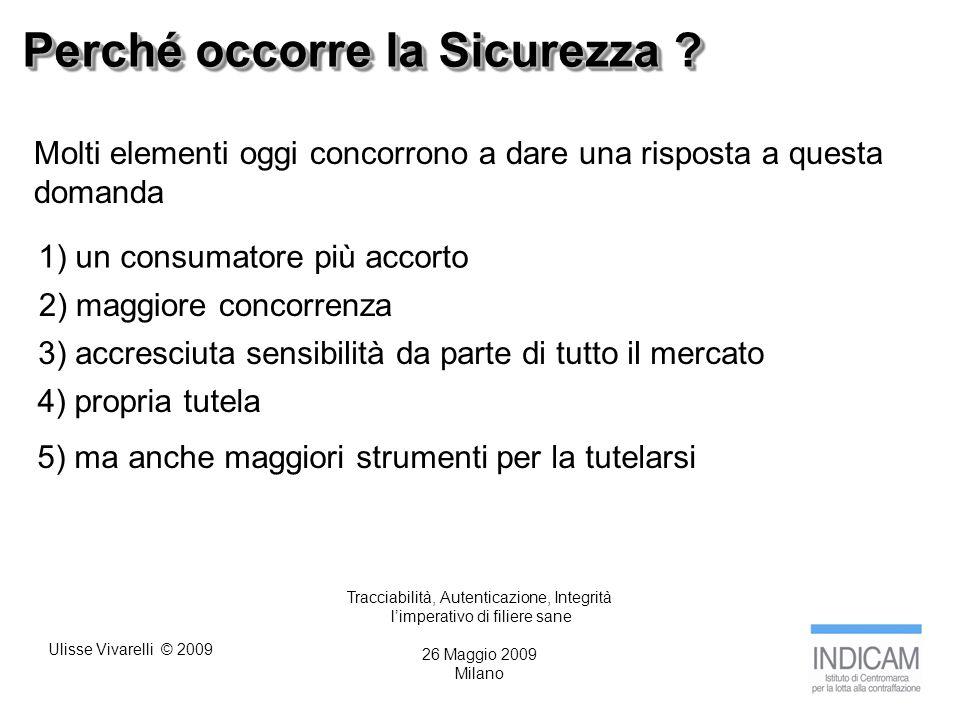 Ulisse Vivarelli © 2009 Perché occorre la Sicurezza .