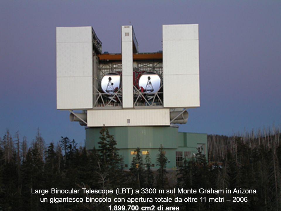 Large Binocular Telescope (LBT) a 3300 m sul Monte Graham in Arizona un gigantesco binocolo con apertura totale da oltre 11 metri – 2006 1.899.700 cm2