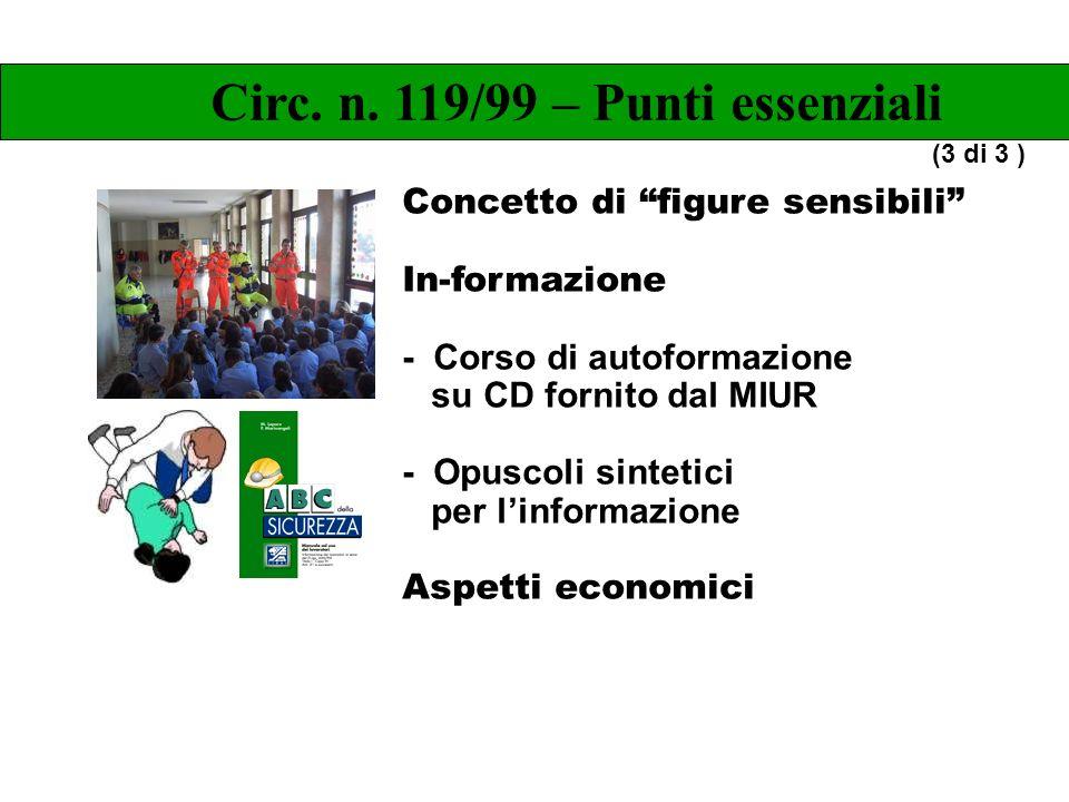Concetto di figure sensibili In-formazione - Corso di autoformazione su CD fornito dal MIUR - Opuscoli sintetici per linformazione Aspetti economici C