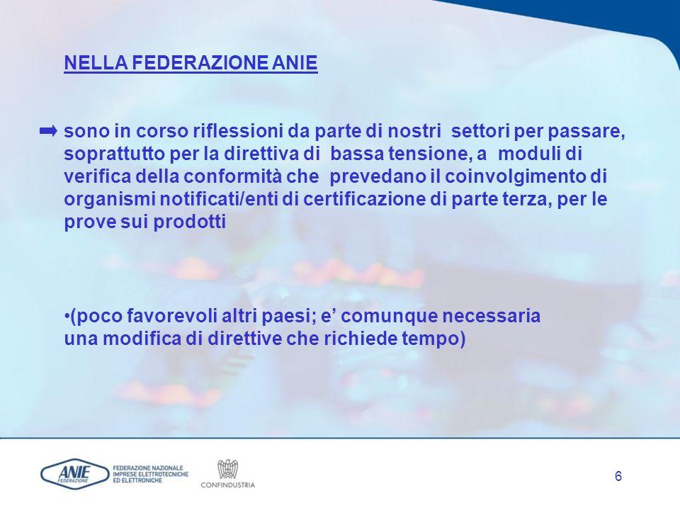 5 MARCATURA CE IN BASE ALLE PRINCIPALI DIRETTIVE DI SETTORE (73/23/CEE c.d. Bassa Tensione; 89/336/CEE c.d. Compatibilità Elettromagnetica; 98/37/CE c