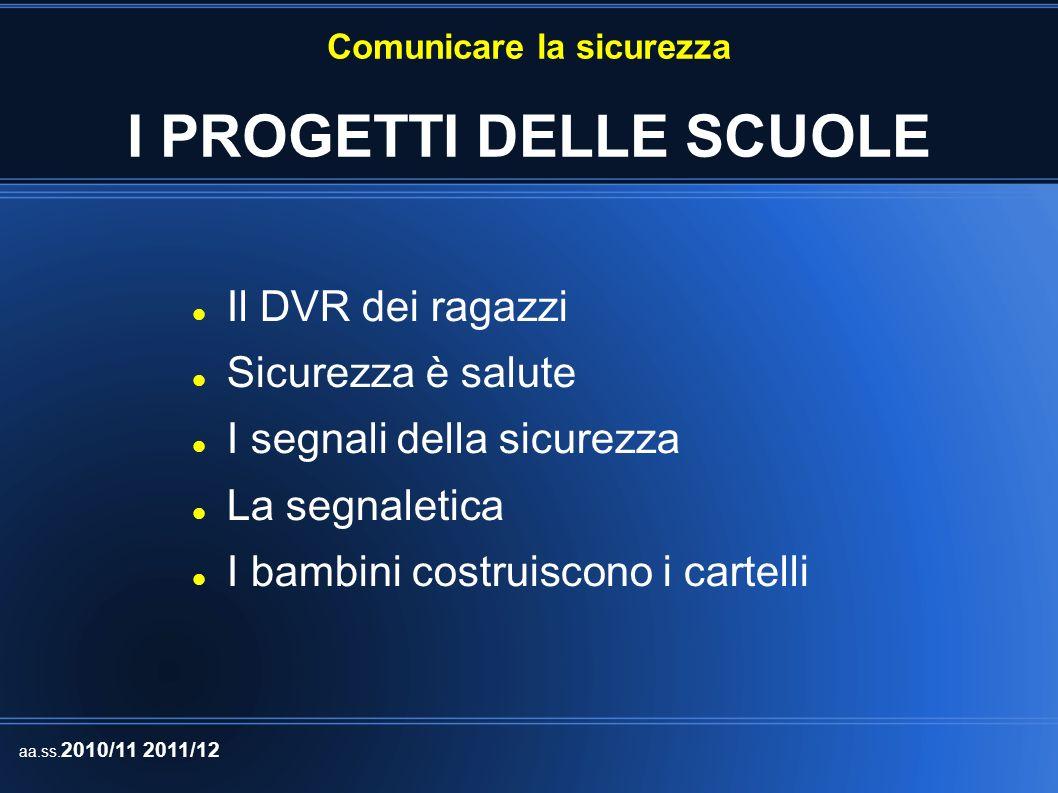 Comunicare la sicurezza ALLIEVI COINVOLTI IC Vicchio IC Don Milani – Firenzuola IC Caponnetto IC Masaccio IC Balducci - Fiesole n.345 n.267 n.360 n.21 n.40 In totale 1033 allievi aa.ss.