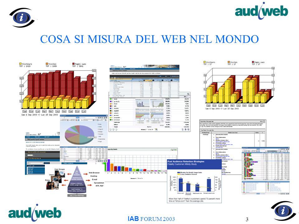 14 AUDIWEB - CHE INFORMAZIONI FORNISCE NETVIEW - PROFILO DEMOGRAFICO IAB FORUM 2003