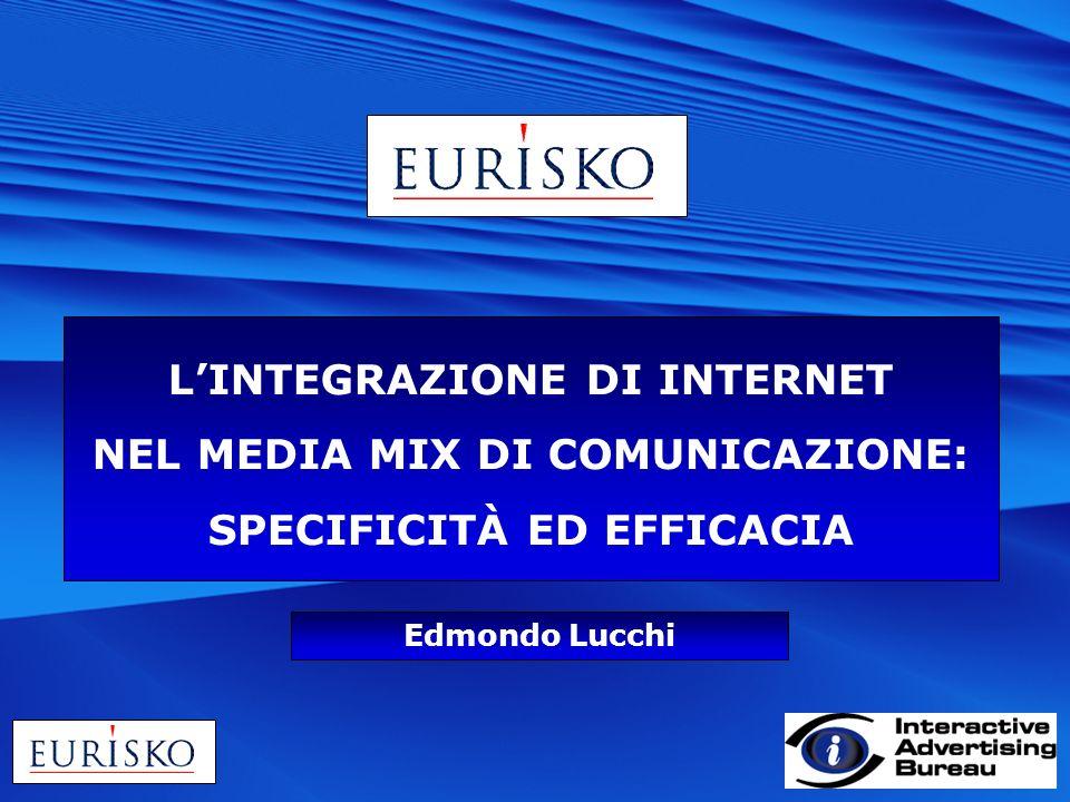 LINTEGRAZIONE DI INTERNET NEL MEDIA MIX DI COMUNICAZIONE: SPECIFICITÀ ED EFFICACIA Edmondo Lucchi