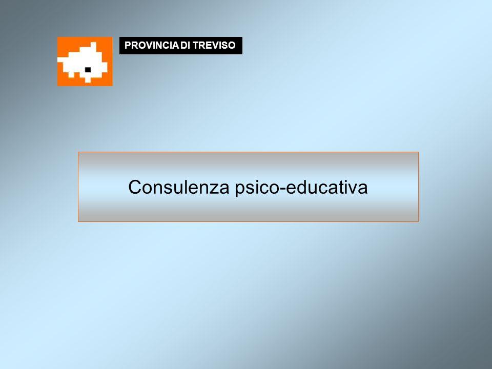 PROVINCIA DI TREVISO Consulenza psico-educativa