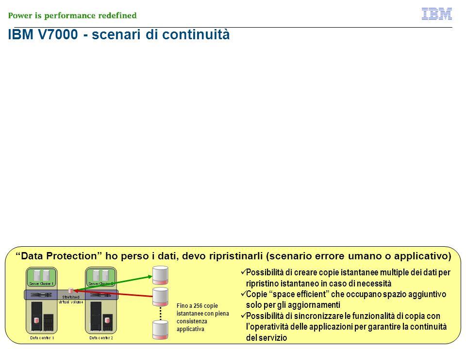 © 2012 IBM Corporation 31 di 51 IBM V7000 - scenari di continuità V7000 Flash Copy Data Protection ho perso i dati, devo ripristinarli (scenario error