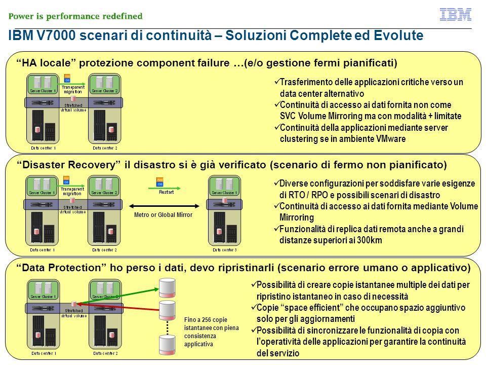 © 2012 IBM Corporation 37 di 51 IBM V7000 scenari di continuità – Soluzioni Complete ed Evolute HA locale protezione component failure …(e/o gestione
