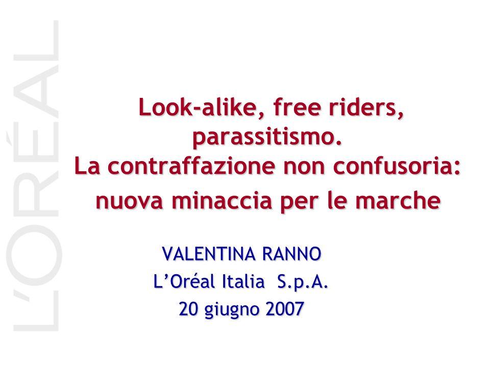 Look-alike, free riders, parassitismo. La contraffazione non confusoria: nuova minaccia per le marche Look-alike, free riders, parassitismo. La contra