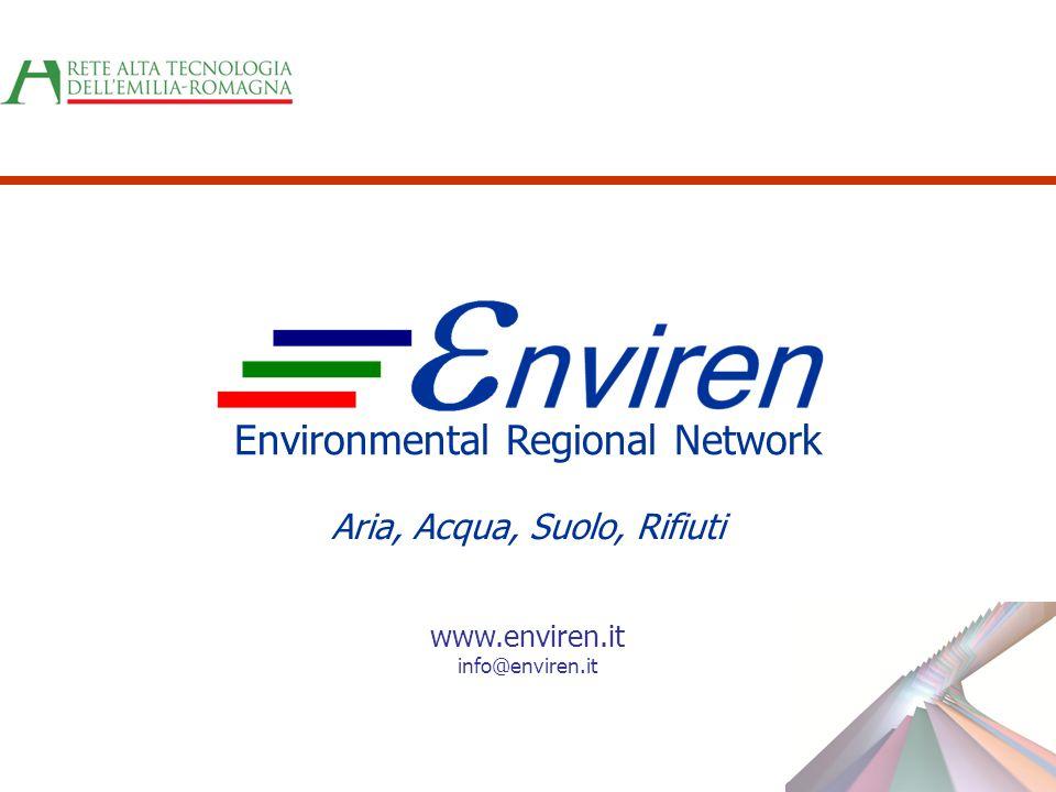 Environmental Regional Network Aria, Acqua, Suolo, Rifiuti www.enviren.it info@enviren.it