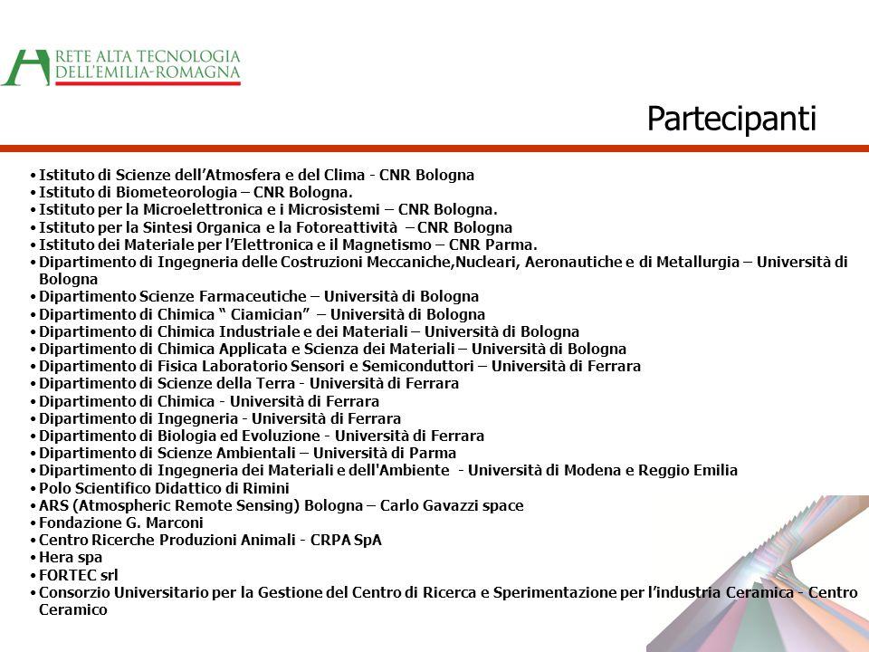 Istituto di Scienze dellAtmosfera e del Clima - CNR Bologna Istituto di Biometeorologia – CNR Bologna. Istituto per la Microelettronica e i Microsiste